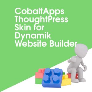 CobaltApps ThoughtPress Skin for Dynamik Website Builder