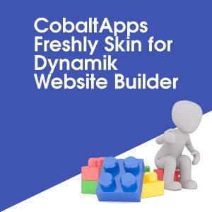 CobaltApps Freshly Skin for Dynamik Website Builder