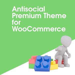 Antisocial Premium Theme for WooCommerce