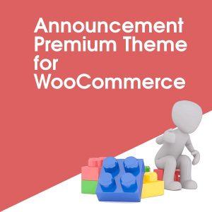 Announcement Premium Theme for WooCommerce