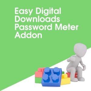 Easy Digital Downloads Password Meter Addon
