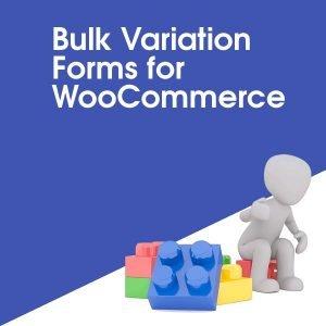 Bulk Variation Forms for WooCommerce