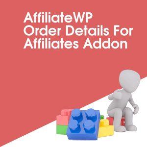 AffiliateWP Order Details For Affiliates Addon