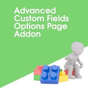 Advanced Custom Fields Options Page Addon